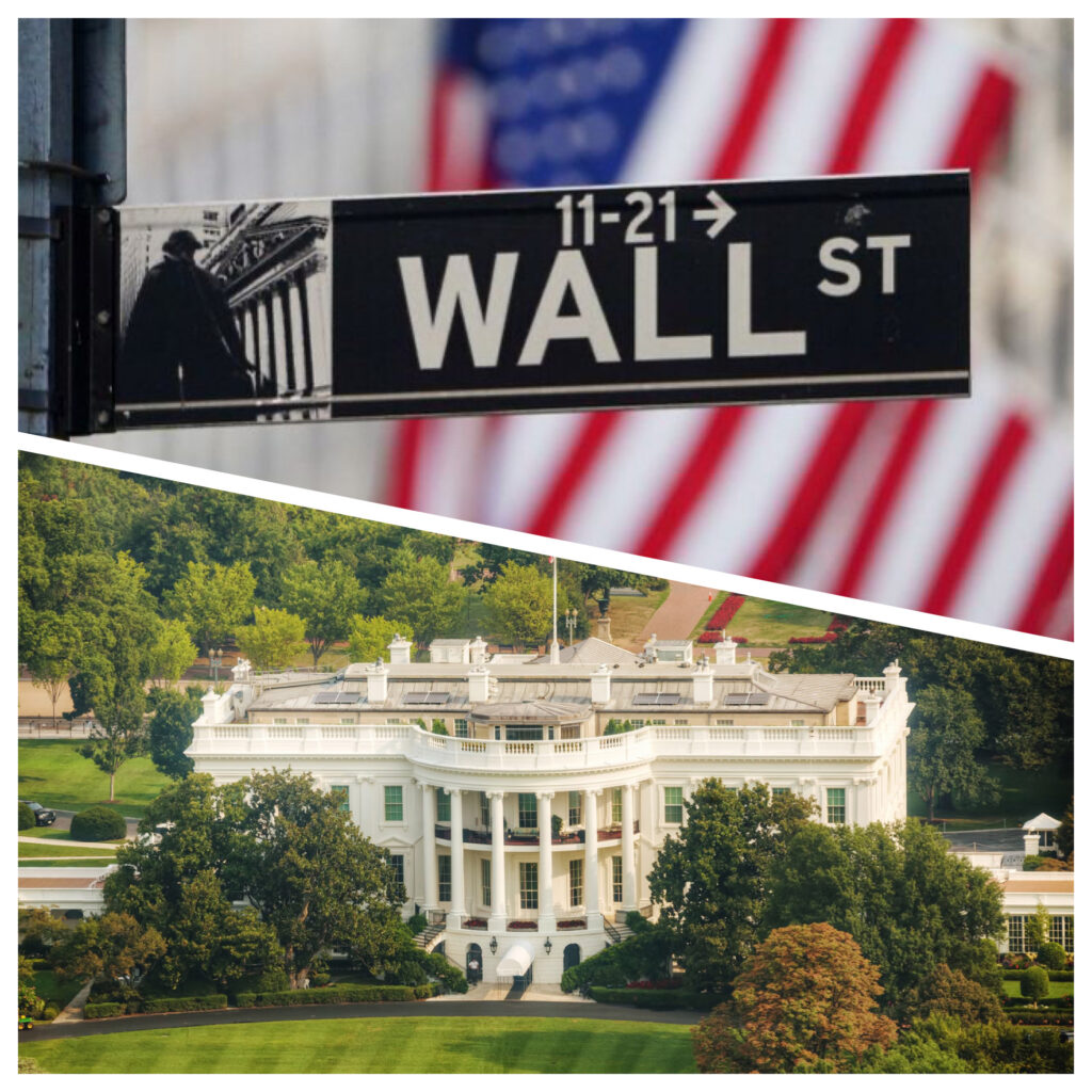 Wall Street Sign and the White House